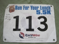 Runnin to support a local food pantry...1st race of the new Year 2013