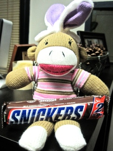 Cute Easter sock monkey for your pleasure :)