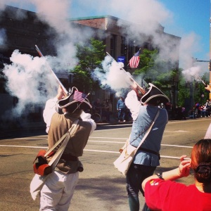 They would actually fire their muskets into the air!!