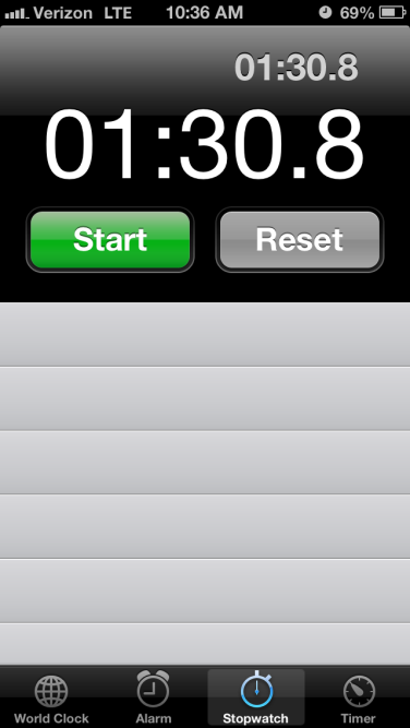timed plank