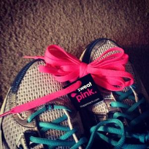 Brooks + pink laces = PR's!! :D