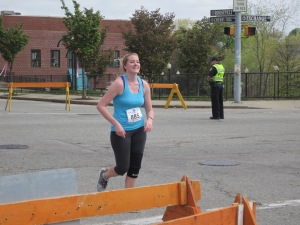 Can you tell I can see the finish line? This was at the Blackstone Half in RI.