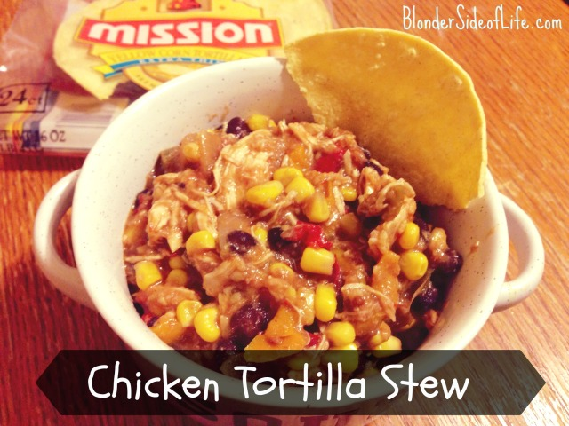 Crock-pot chicken tortilla stew
