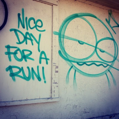 "It really should read ""EVERY day is a nice day for a run"" but I won't bee too picky lol"