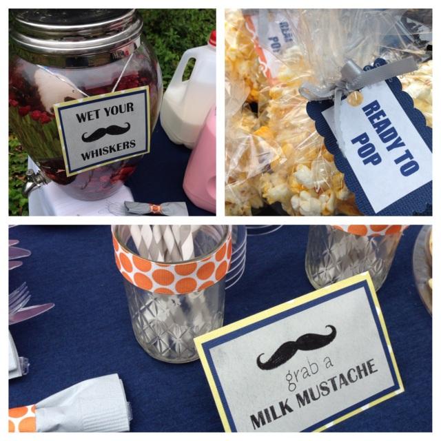baby boy shower mustache decorations
