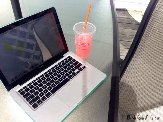 Patio and Laptop with Dunks